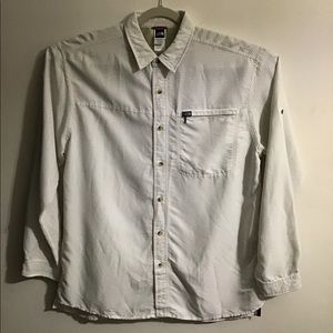 The North Face check button up. XLarge